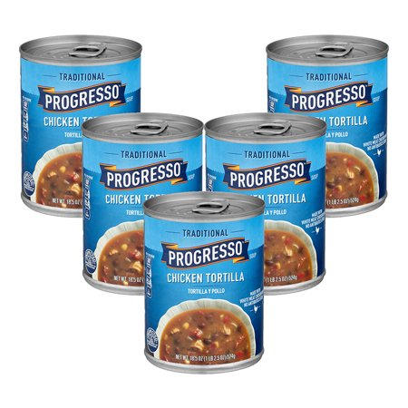 (5 Pack) Progresso Traditional Chicken Tortilla Soup, 18.5