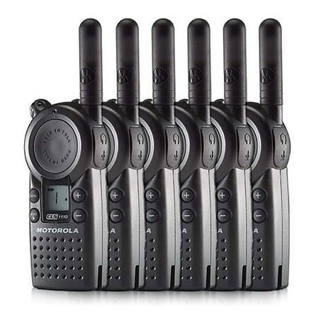 Cls Package (Motorola CLS1110 (6 Pack) Professional 2-Way Radio / 2 Mile Range)