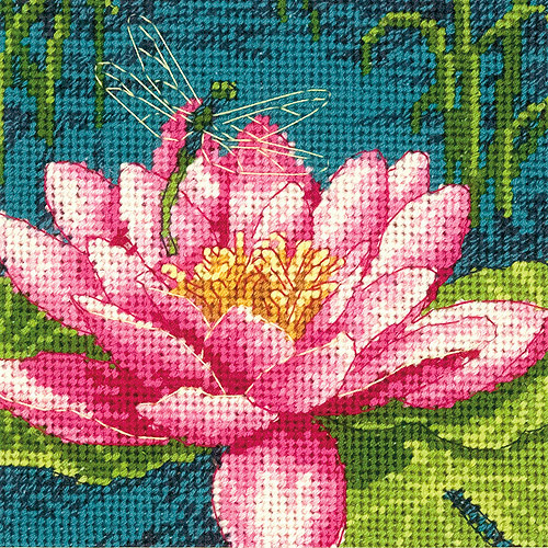 Dimensions Mini Needlepoint Kit, Dragon Lily