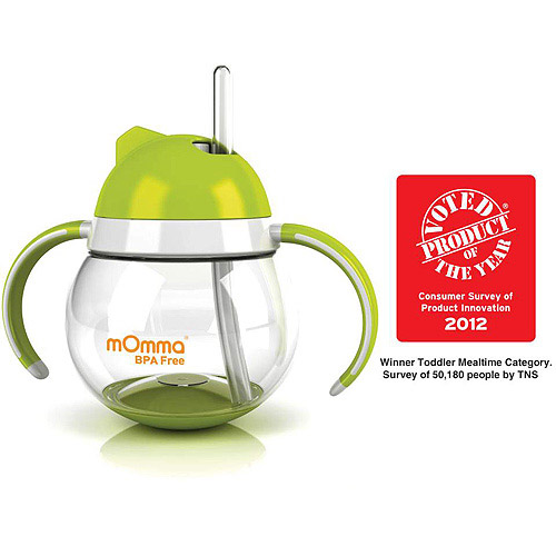 Lansinoh - mOmma Straw Cup with Dual Handles, BPA-Free, Green
