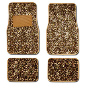4 pcs Safari Cheetah Car Floor Mats Set Shipping Included