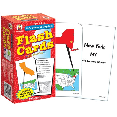 U.S. States & Capitals Flash Cards by (List Of States And Capitals By Region)