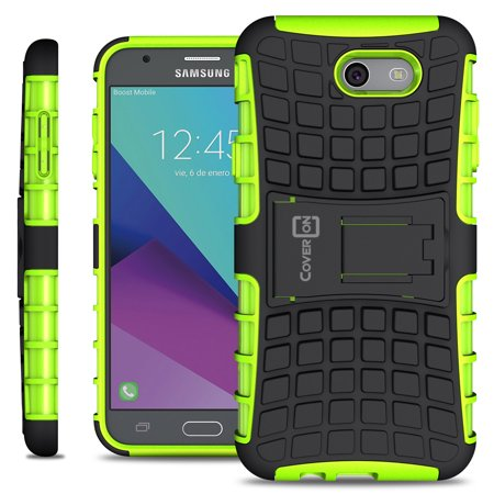 coveron samsung galaxy j7 perx / j7 v / j7 sky pro / j7 2017 (version) / j7v case, atomic series slim protective kickstand phone cover - Walmart.com