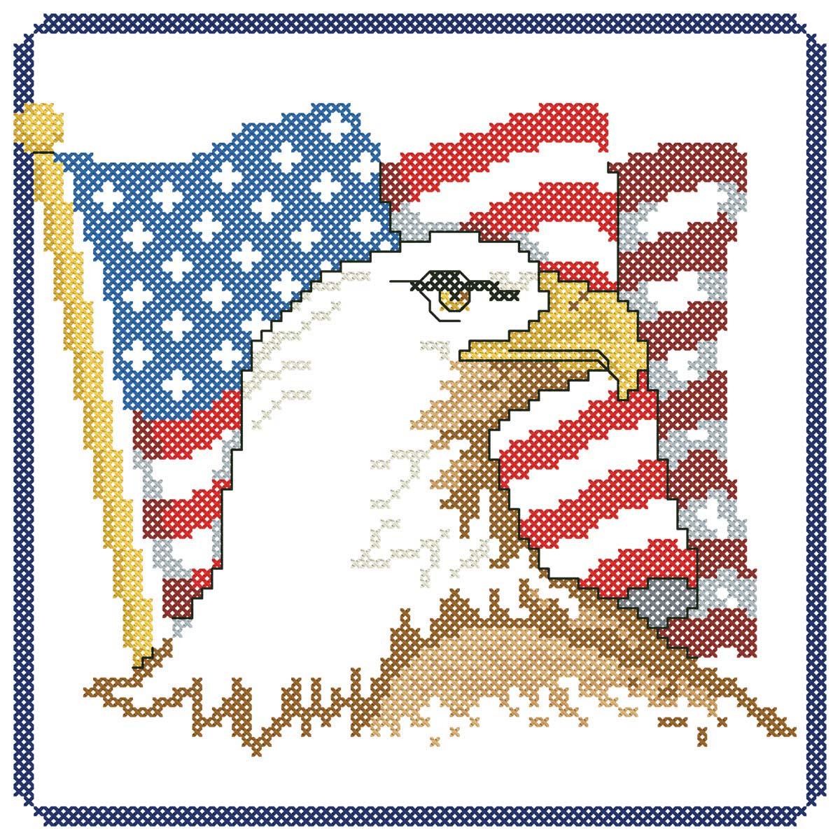 Herrschners® Patriotic Pride Quilt Blocks Stamped Cross-Stitch