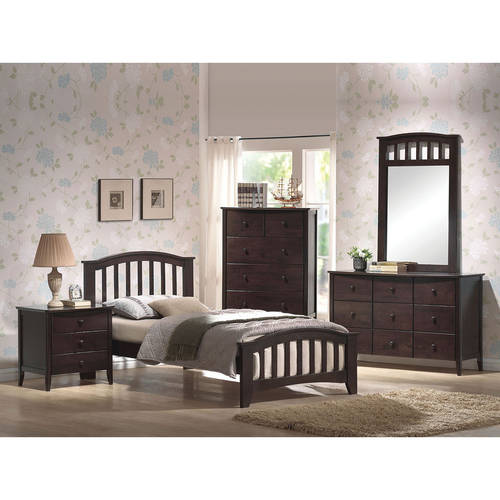 San Marino Twin Bed,  Dark Walnut