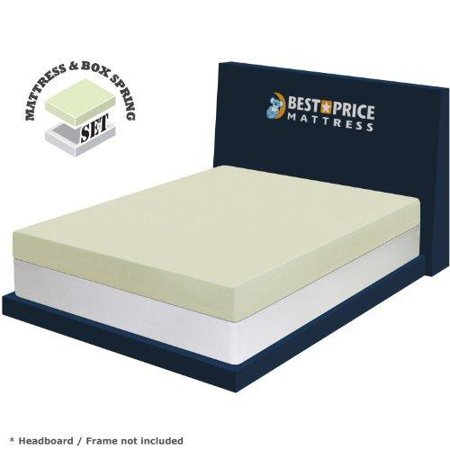 Best price mattress 6 memory foam mattress and new innovative box spring set full size Memory foam mattress set