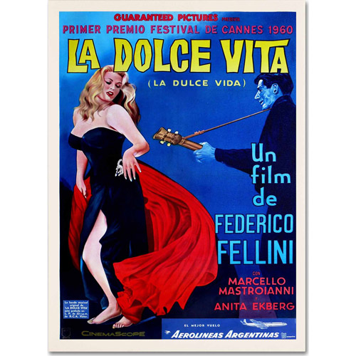 "Trademark Fine Art ""La Dolce Vita"" Canvas Art by Vintage Apple Collection"