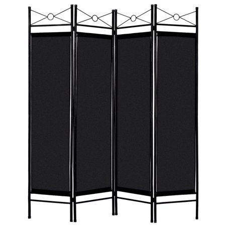 4 Panel Screen China - Costway Black 4 Panel Room Divider Privacy Screen Home Office Fabric Metal Frame