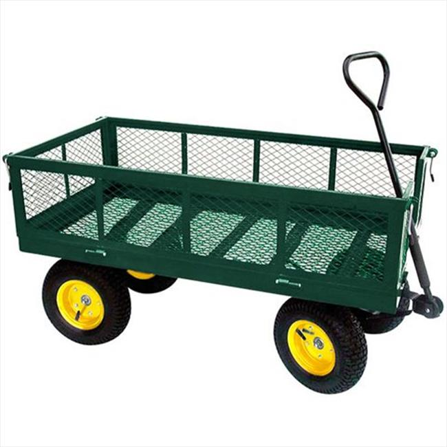 TekSupply 108678 Expanded Metal-Deck Wagon with Fold-Down Sides