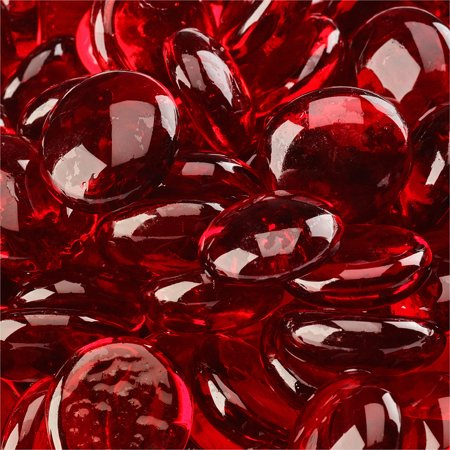 Solid Red Glass - Red Fire Glass | Marlboro Red, Fire Glass Beads, 3/4