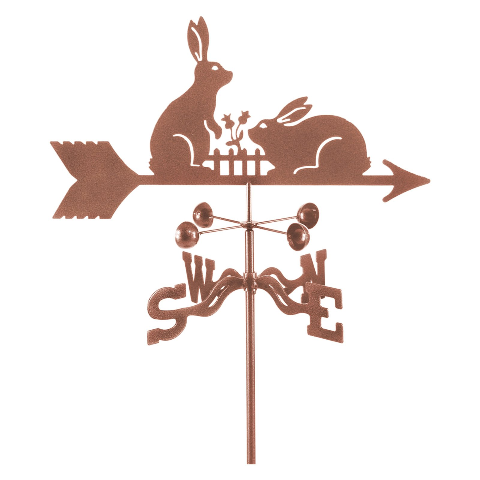 EZ Vane Rabbits with Fence Weathervane by EZ Vane