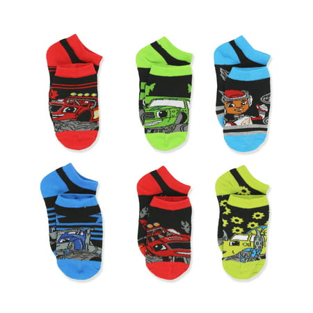 Blaze and the Monster Machines Little Boys 6 pack Socks 7203QH Toy Machine Monster Socks