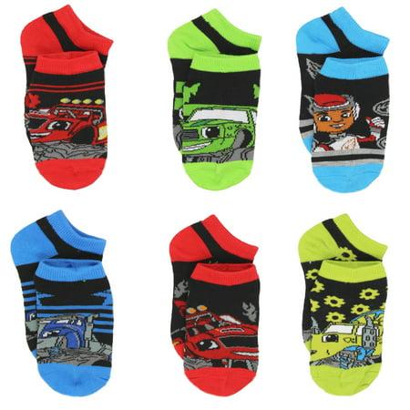 Blaze and the Monster Machines Little Boys 6 pack Socks 7203QH