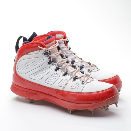 f3ccd9fde22 Mookie Betts Boston Red Sox Game-Used White and Red Cleats vs. New York  Yankees on September 30