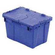 ORBIS Attached Lid Container,0.6 cu ft,Blue FP06 Blue
