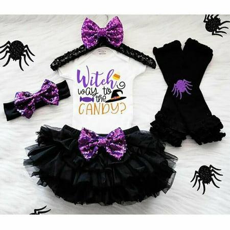 Halloween Leg Warmers Toddler (Infant Halloween Baby Girl Romper+Tutu Skirt Dress+Leg Warmer Summer)