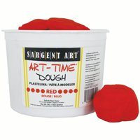 Art-Time® Dough, Red, 3lb Tub, Pack of 3