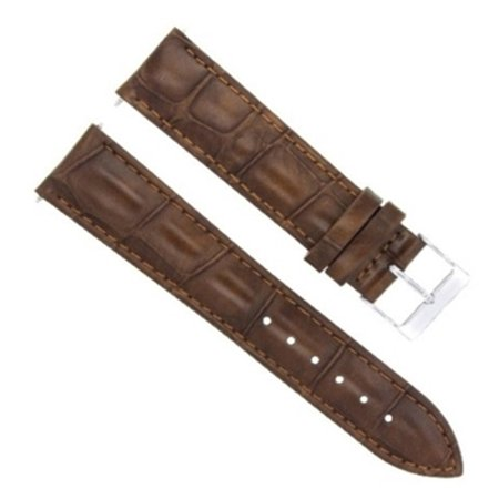 19MM GATOR LEATHER WATCH  BAND STRAP FOR BREITLING PILOT LIGHT BROWN Breitling Pilot Watch