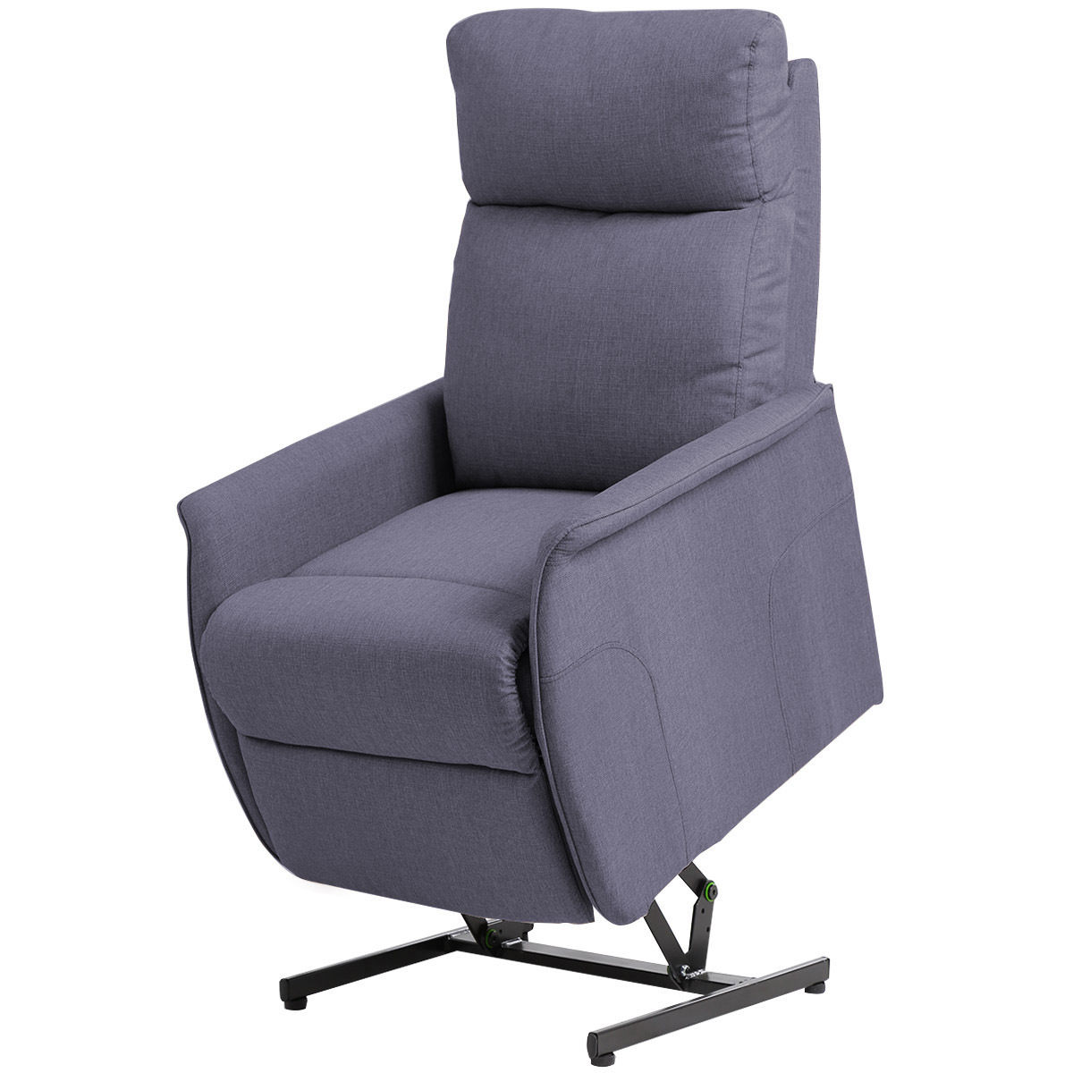 Costway Electric Power Lift Chair Recliner Sofa Fabric Padded Seat Living Room w/Remote