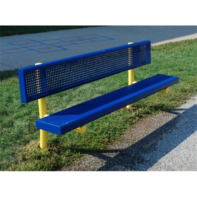Kidstuff Playsystems 52006 PVC-Steel Bench- 6 ft.  Long
