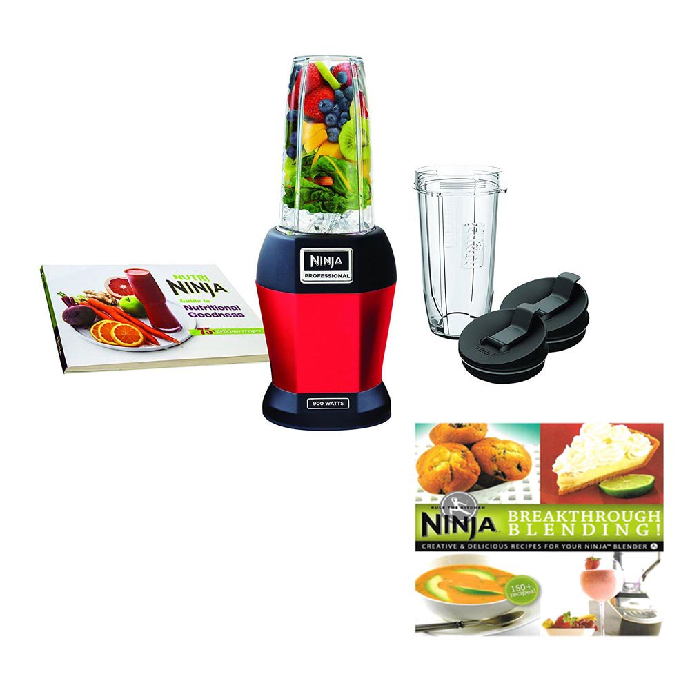 Nutri Ninja BL456 900W Smoothie Blender with Nutri Ninja Cups with Cookbook