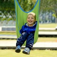 Kids Swing Pod Hanging Seat Hammock w/ Straps - Green