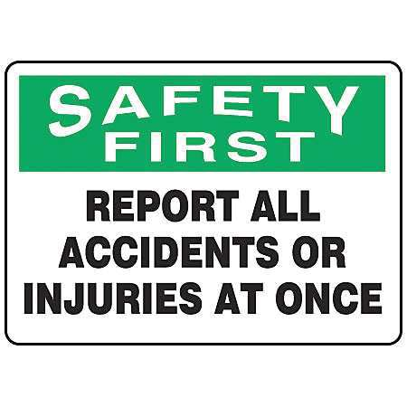 ACCUFORM SIGNS MFSD933VP Caution Sign, 7 x 10In, GRN and BK WHT, ENG by ACCUFORM SIGNS