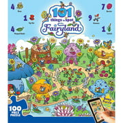 masterpieces 101 things to spot in fairyland jigsaw puzzle, 24-piece