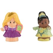 Fisher-Price Little People Disney Princess Rapunzel & Tiana Figures, Rapunzel and Tiana go perfectly with the Little People Disney Princess Songs Palace By FisherPrice Ship from US