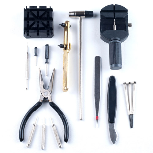 Stalwart 16-Piece Professional Watch Jewelry Repair Tool Kit