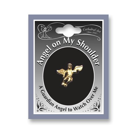 Gold-tone Angel on My Shoulder Lapel Pin