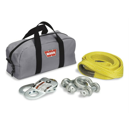 Warn 70792 Winch Rigging Kit; Incl. Snatch Block Rated At 7000 lbs.; 2 5/8 in. D-Shackles; Anchor Strap; Nylon Soft (Snatch Block Rigging)