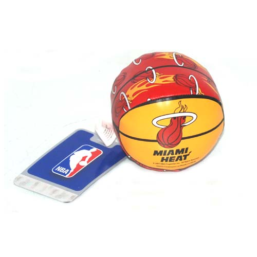 Miami Heat Vinyl Basketball In Display, Case of 24