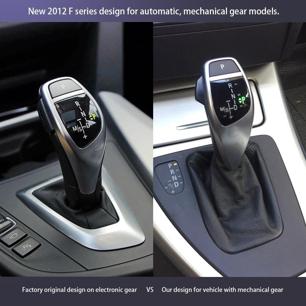 Gear Knob LHD Automatic LED Gear Shift Knob Shifter Lever Stick for E46 E60 E61 E63 E64 Silver
