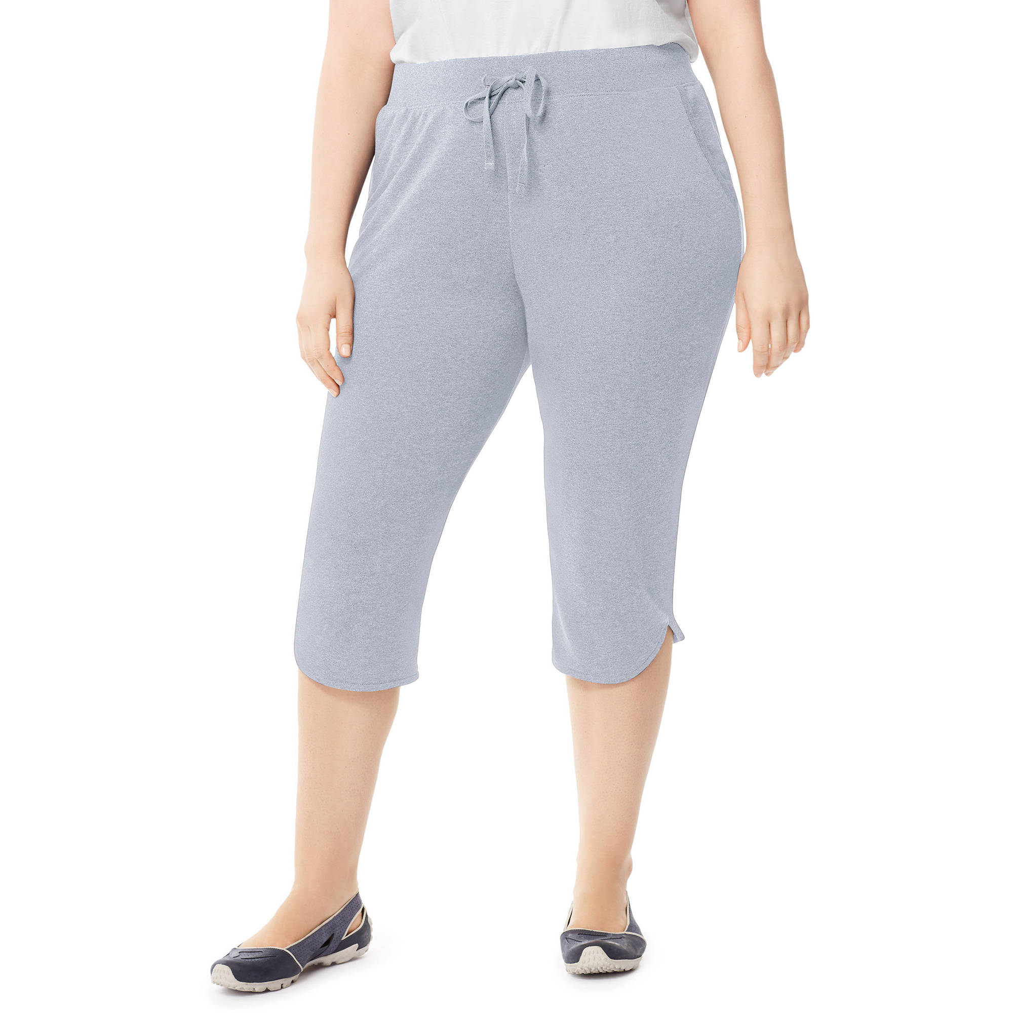 just my size by hanes women's plus-size french terry dolphin-hem