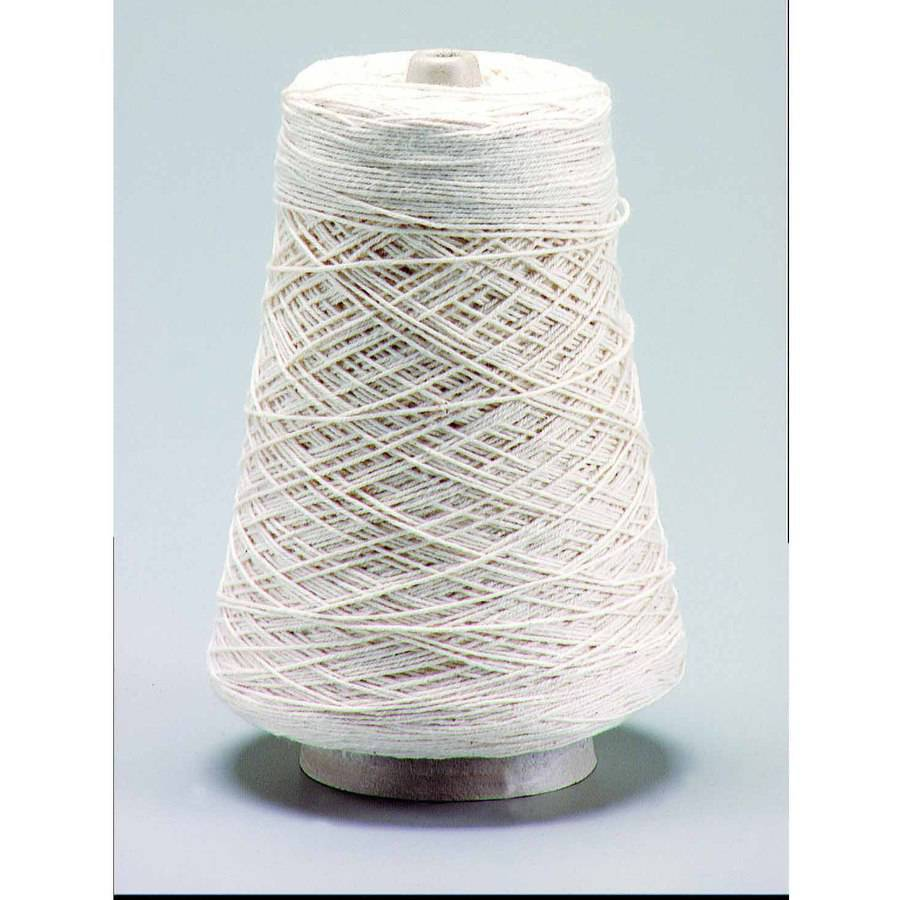 Trait Tex Cotton 4-Ply Heavy Warp and Weft Yarn Cone, 800 Yards, Natural Creamy White