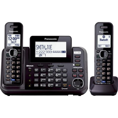 Panasonic Link2cell Kx-tg9542b Dect 6.0 1.90 Ghz Cordless Phone Black Cordless 2 X Phone Line 1 X Handset... by