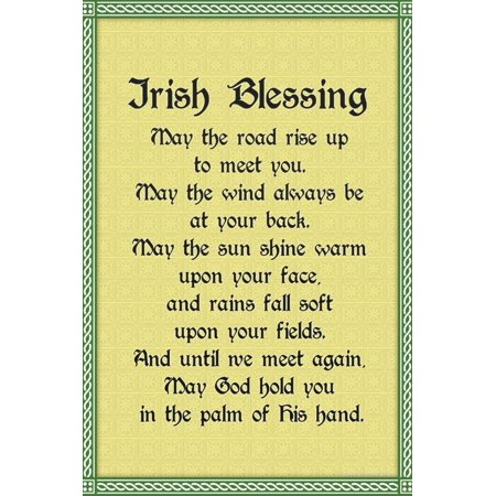 Irish Blessing Art Print Poster Print Wall Art