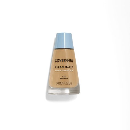 COVERGIRL Clean Matte Liquid Foundation, 545 Warm Beige