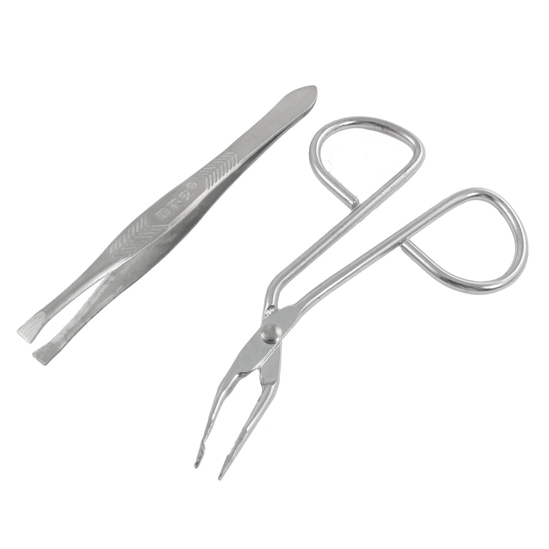 eyebrow tweezers with handles. unique bargains handy eyebrow kit trimmer flat tip tweezers \u0026 scissors makeup - walmart.com with handles s