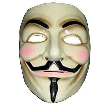 Anonymous V For Vendetta Costume Mask R4418/17 - Halloween Mask Vendetta