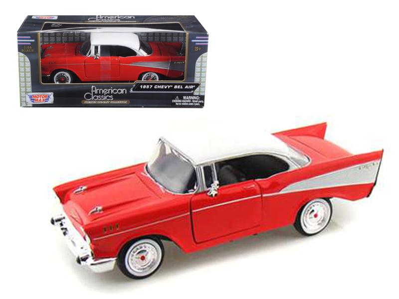 1957 Chevrolet Bel Air Red 1 24 Diecast Model Car by Motormax by Motormax