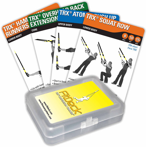 FitDeck TRX Suspension Training Exercise Playing Cards