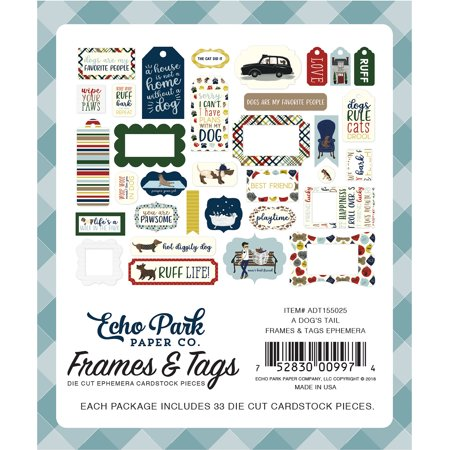 - Frames & Tags - A Dog's Tail Ephemera Cardstock Die-Cuts 33/Pkg