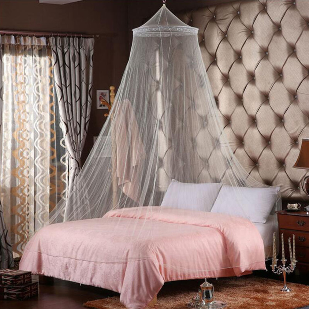 Universal Elegant Round Lace Insect Bed Canopy Netting Curtain Dome Polyester Bedding Mosquito Net Home Furniture & Universal Elegant Round Lace Insect Bed Canopy Netting Curtain ...