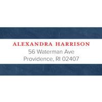 Bonjour Personalized Address Label