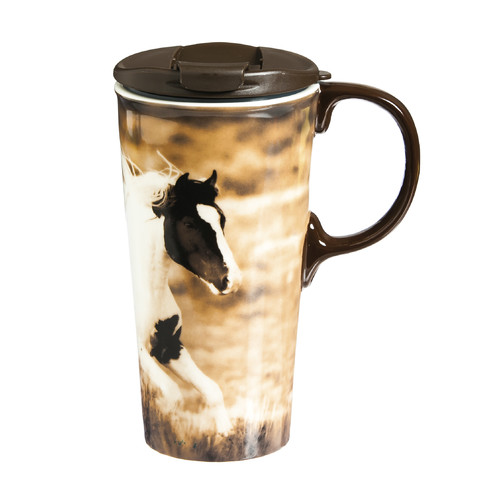 Evergreen Enterprises, Inc Realistic Horse Ceramic 17 oz. Perfect Cup