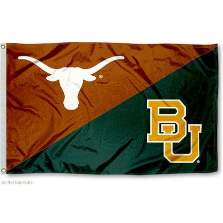 NCAA Baylor vs. Texas House Divided 3x5 (Texas House Flag)