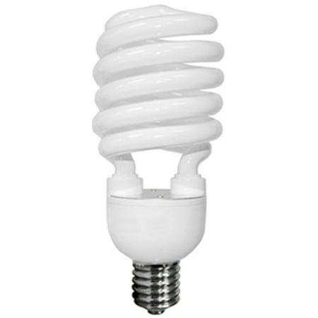 TCP 28968H27765K Single 68 Watt Frosted T4 Screw Terminal Compact Fluorescent 277V Bulb - 6500K