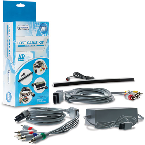Hyperkin M05609 Nintendo Wii Lost Cables Kit Gray